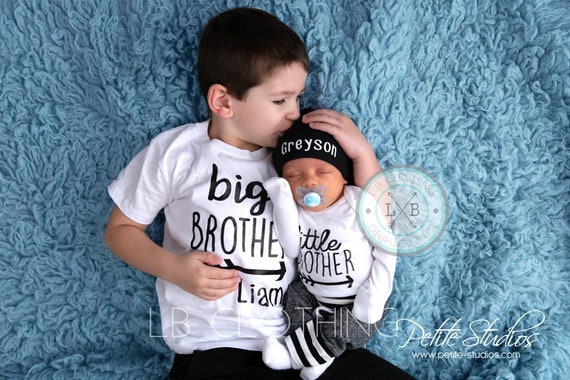 Big Brother Little Brother Outfit Baby Boy Coming Home Etsy