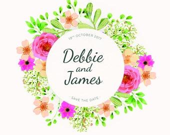 Save the date | Wedding invitation | Wedding | Date | invitations | Save the Dates | Floral | Pattern | Save the Dates