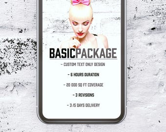 Custom snapchat Filter design - Basic package