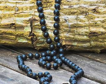 Men's Necklace, Mens Mala Necklace, Men's Beaded Necklace,  108 Prayer Beads, Mens Yoga Necklace, Men Yoga Jewelry