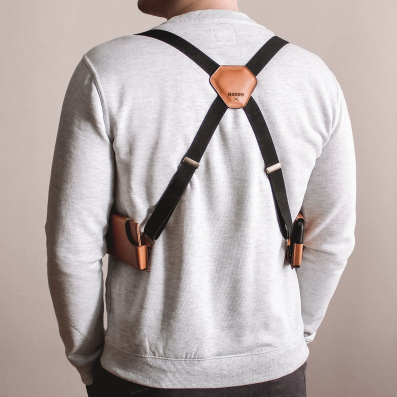 sports shoes 7d839 200b7 Phone Shoulder Holster iPhone Case Holder Leather Pockets Wallet and  Suspender / HARDY HOLSTER