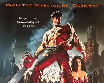 b665d82a Army of darkness signed movie poster cast