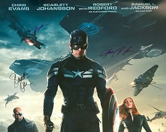 Captain America: The Winter Soldier signed movie poster