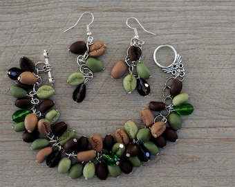 """""""Green coffee"""" set polimere fimo clay"""