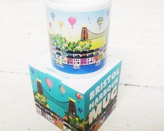 Bristol Harbour Mug - Gift Box - Bristol Gift - Birthday Gift - Novelty Gift - Balloons - Kitchen - Bristol Souvenir - Tea Coffee - Mugs