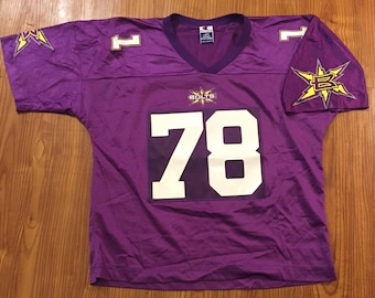 d3c4bb068 Vintage 00s XFL Champion Birminghan Thunderbolts Football Jersey