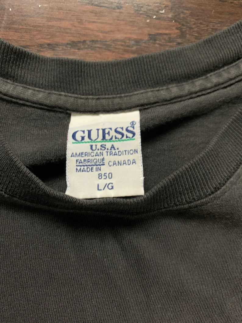 90s Guess Embroidered T Shirt