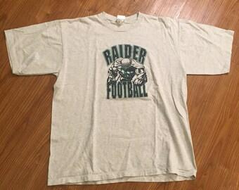 Vintage 90s Raider Football T Shirt