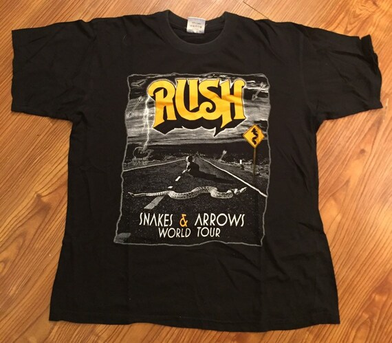Rush Snakes and Arrows Tour T Shirt
