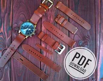 watch strap template etsy