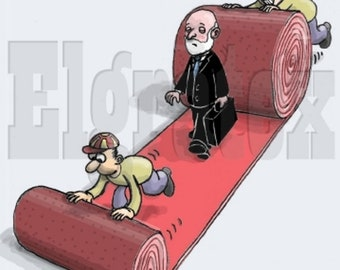 "Color Hand-Drawn Cartoon, Downloadable, Funny Digital Comic, Cartoons, humor art gift - ""Welcome"""