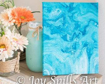 Sapphire Dreams by Joy Spills Art {original flow art, 8x10}