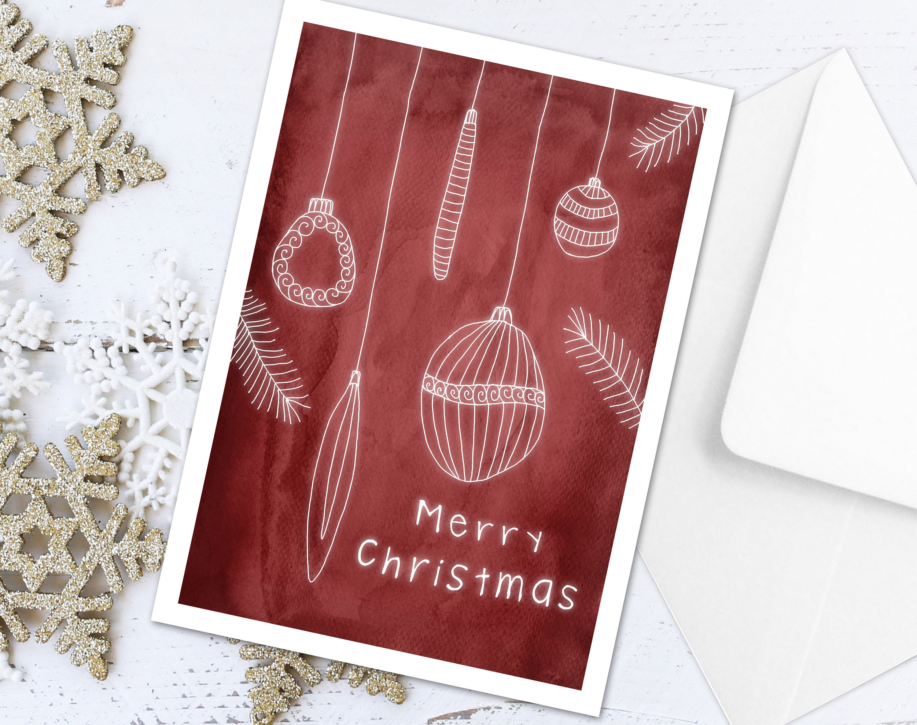 Christmas card pack.Christmas cards pack. 5x7. Set of 6 Red ...