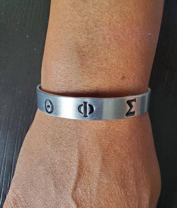 Theta Phi Sigma Cuff Bracelet
