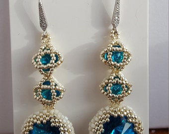 Handmade beaded Crystal earrings