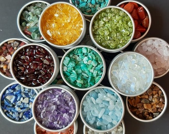 Gravel minerals different types Manufacture Orgonite Candle Supplies 3-10mm 5g/10g Choice -->CUSTOMIZING<--