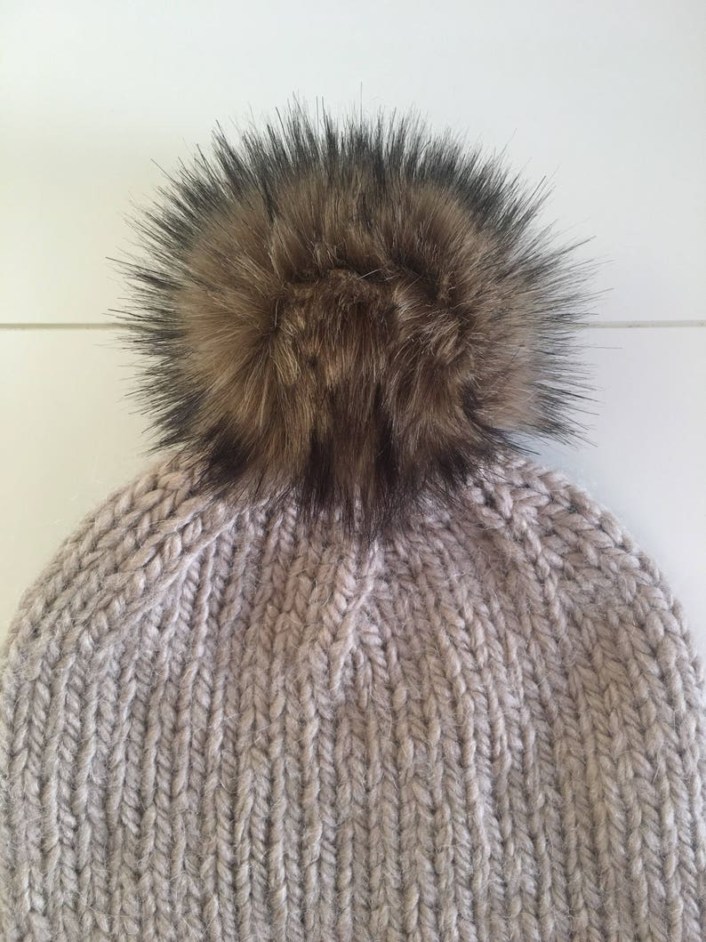 Double Pom Beanie Mommy Daughter Knit Mom and Daughter Hat ALPACA WOOL  Mommy and Me Beanie Mother Daughter Hat Kid Alpaca Hat