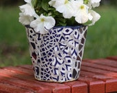 Pots for plants Blue and White Outdoor