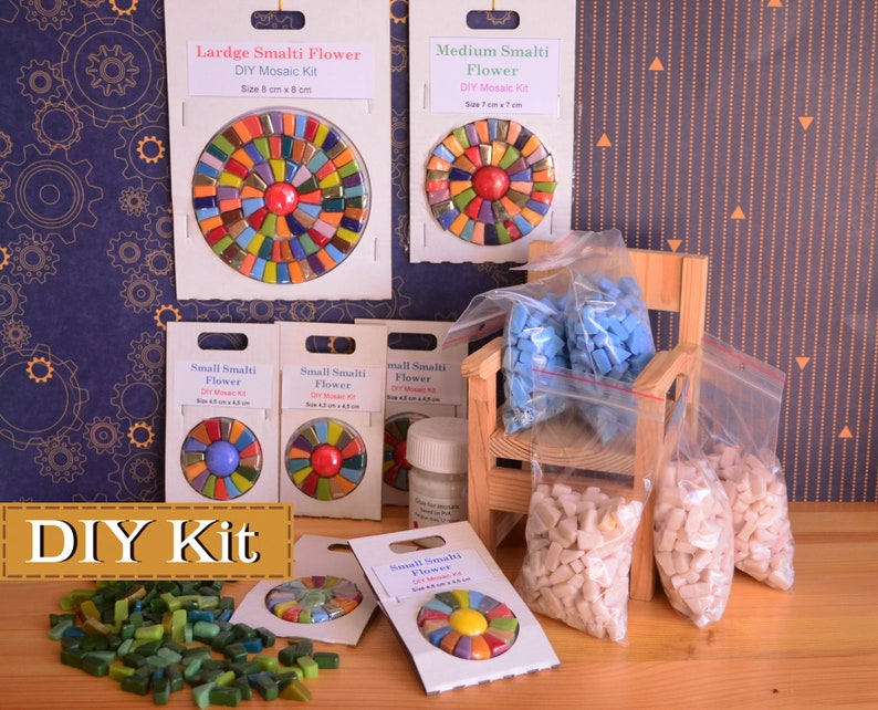 Craft Kit For Adults Mosaic Making Diy Crafts Outdoor Etsy