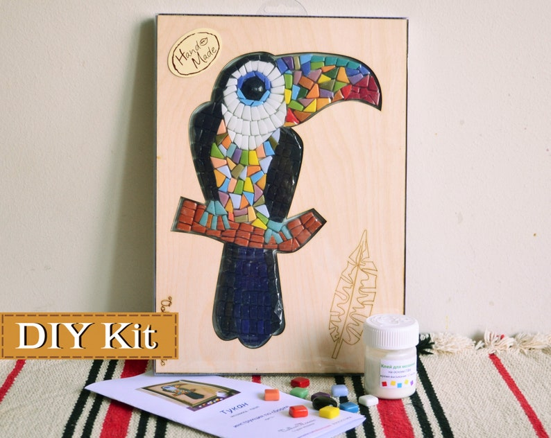 0ed6a2efe Adult craft kit/Mosaic wall art/Mosaic | Etsy