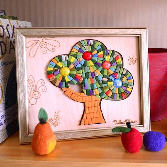 Mosaic wall art/Adult craft kit/Smalti/Mosaic kits/Girls room   Etsy