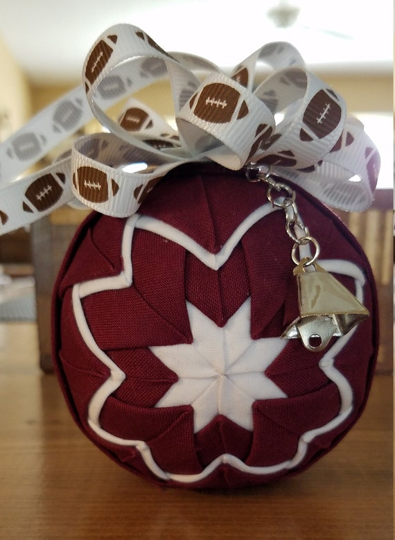 image 0 - Mississippi State Christmas Ornament With Cowbell Charm MS Etsy