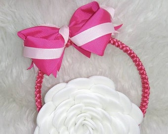 Girls headband bow