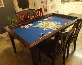 Board Game Table With Removable Topper