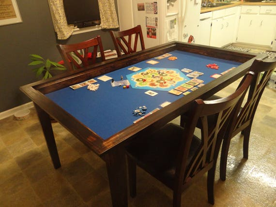 Board Game Table With Removable Topper Etsy