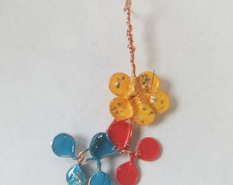 J Flower Copper Pendant