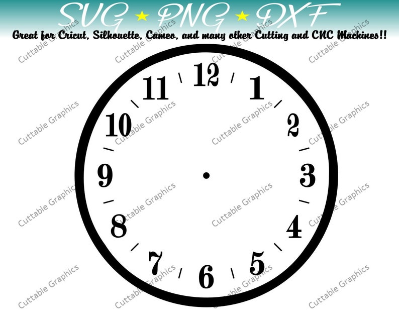 Standard Clock Blank Vector