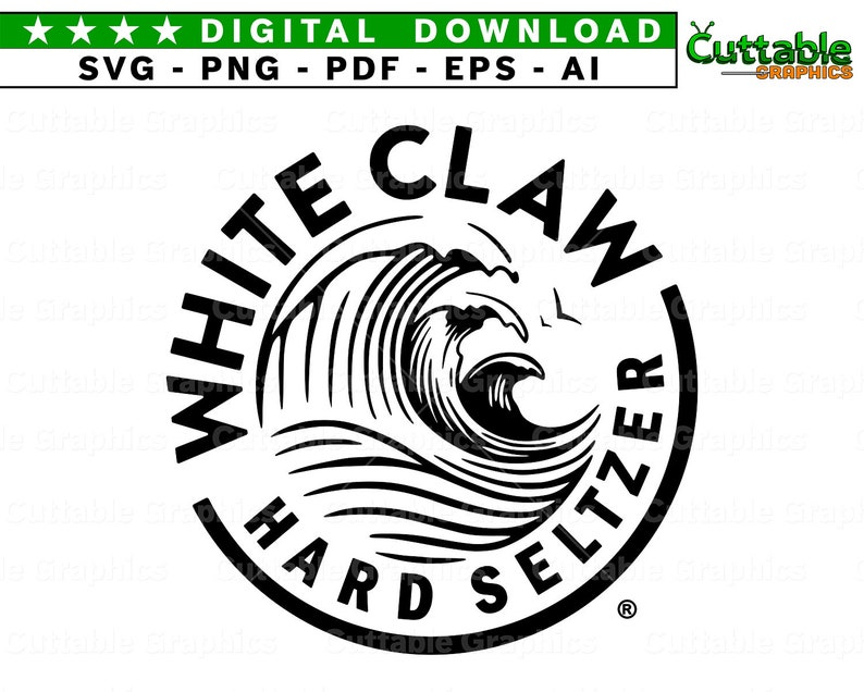 Unofficial White Claw Hard Seltzer Inspired Logo SVG   Etsy