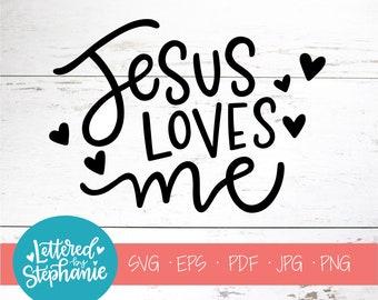 Jesus Loves Me Svg Etsy