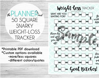 weight loss tracker printable etsy