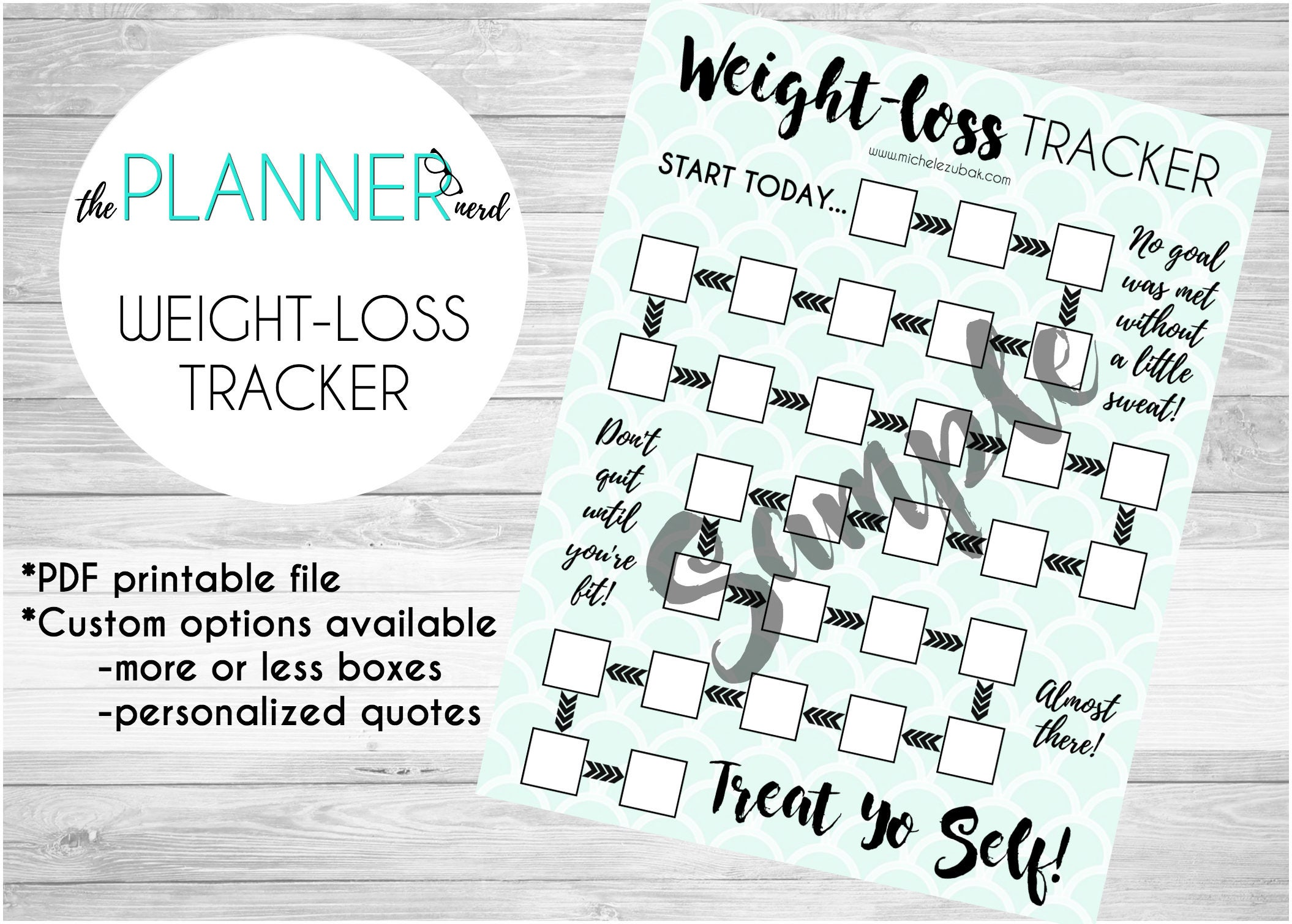 Weight Loss Goal Habit Tracker PDF Download