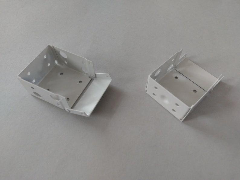 Metal Brackets For 50mm Venetian Blinds Wooden Blinds Different Colour Top Face Fix Universal Brackets