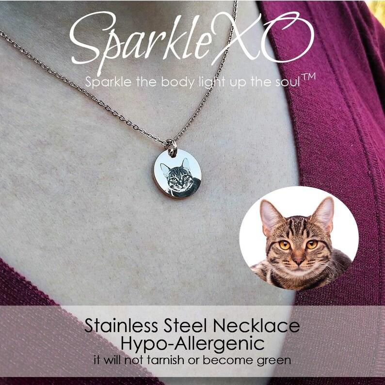 Personalized Pet Portrait Necklace Custom Pet Jewelry Personalized Necklace Pet Memorial Gift Dog Necklace Cat Necklace Custom Pet Jewelry