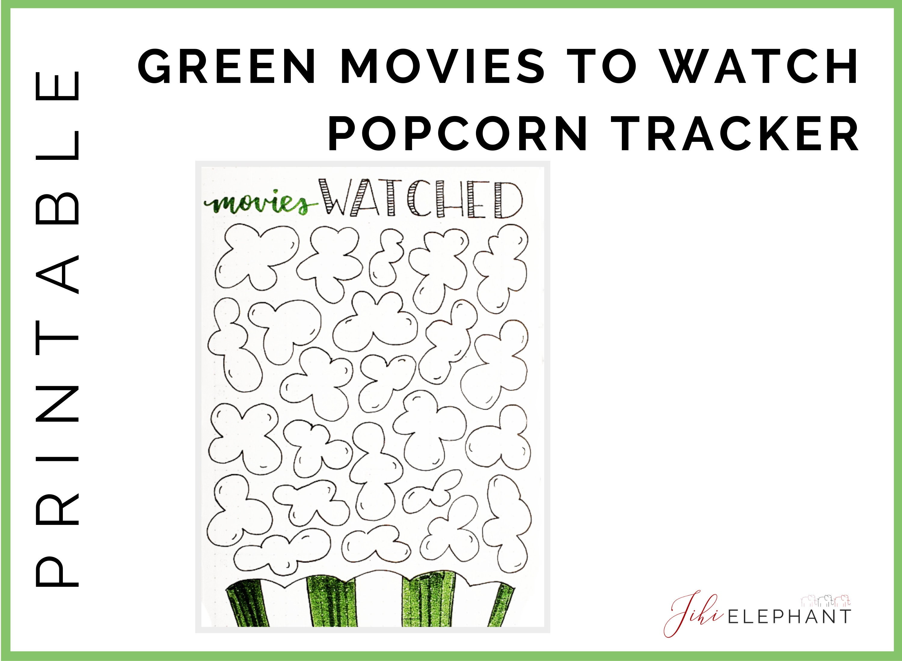 photograph regarding Popcorn Bag Printable referred to as Printable Films toward See Range Style and design Popcorn Bag Kernels Environmentally friendly  A5 Dimensions Downloadable