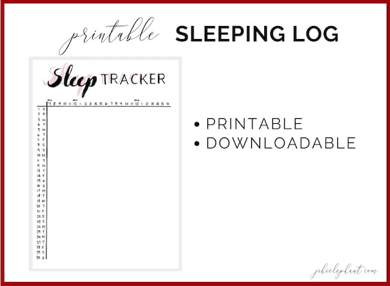 picture about Sleep Log Printable referred to as Pastel Red Slumber Log Tracker Bullet Magazine Printable Downloadable  Planner