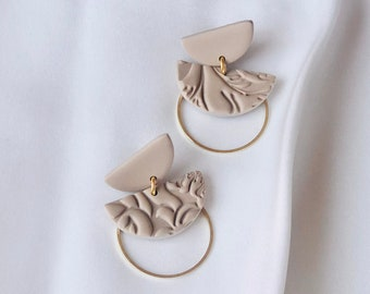 The Maritza Dangles | Handcrafted Statement Earrings | Lightweight | Polymer Clay Jewelry | Hypoallergenic | Boho Chic