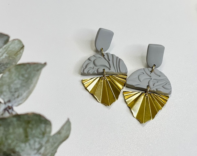 Featured listing image: Ceci Dangles | Handcrafted Statement Earrings | Lightweight | Polymer Clay Jewelry | Hypoallergenic | Modern Chic | Boho Chic