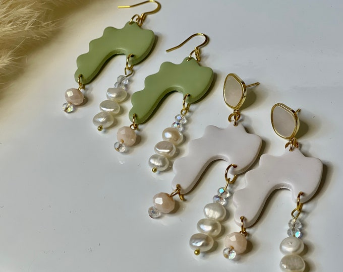Featured listing image: The ELISA | Handcrafted Earrings | Polymer Clay Jewelry | Hypoallergenic | Lightweight | Modern Chic