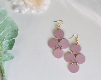 The Serena Dangles | Handcrafted Statement Earrings | Lightweight | Polymer Clay Jewelry | Hypoallergenic | Modern Chic