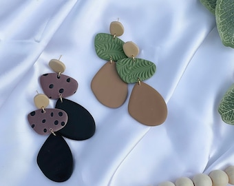 Bahama Mama | Handcrafted Earrings | Polymer Clay Jewelry | Hypoallergenic | Lightweight | Modern & Boho Chic