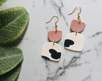 Dalmatian Dangles | Handcrafted Statement Earrings | Lightweight | Polymer Clay Jewelry | Hypoallergenic | Modern Chic | Fall
