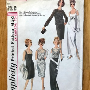 Vintage 1954 McCall/'s Fashion Firsts 9678 Misses Bridal Dress or Evening Dress with or without Train Sewing Pattern Bust 30
