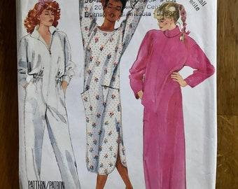 2802 UNCUT McCalls Sewing Pattern Sleepwear Robe Nightgown Jumpsuit Easy oop ff