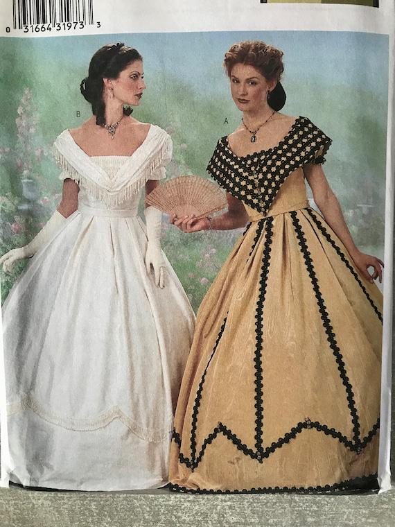 Damen-historisches Kostüm-Schnittmuster / Theater bürgerlichen   Etsy
