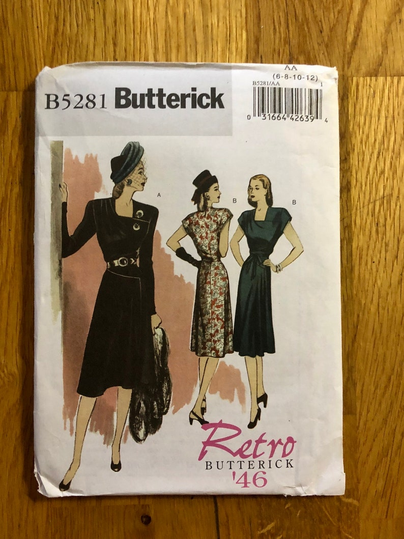 Butterick 5281 Retro /'46 Dresses Pattern