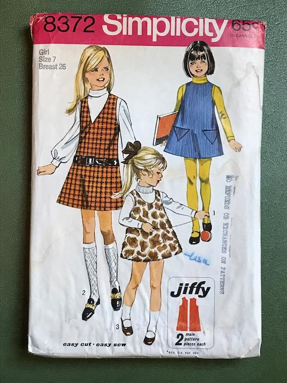 60er Jahre Schnittmuster Mädchen / Jahrgang 1960 Kindes | Etsy